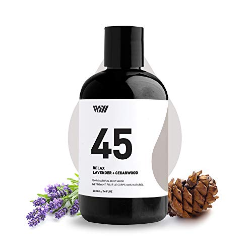 45 Natural Cleansing Body Wash, Organic Shower Gel, Natural Body Wash for Men and Women, Suitable for All Skin Types (Relax - Lavender and Cedarwood) - Way of Will