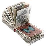 HEALLILY 365 Hojas Vintage Scrapbook Material Papel DIY Scrapbooking Retro Material Papel Animal Floral Noticias Papel Artista Diario Suministros de Adorno (Estilo A)
