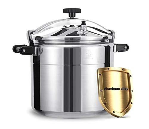 Cuisinière à pression en aluminium commercial, cuisinière à pression anti-explosion multifonction, utilisation du ménage Cuisine épaissie épaissie, restaurant, cuisinière à riz à la sécurité scolaire,