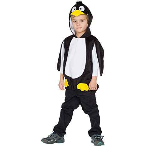 Rubies Disfraz infantil unisex de pingino Theo, tnica, negro, blanco, carnaval rtico (116)