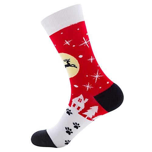 Caja de algodón Cámbulo de Navidad Pares de Medias Calcetines mullidos Calcetines de Navidad Cozzo Lindo Calcetines de Invierno para niños Adultos 1 par (b) WTZ012 (Color : B)