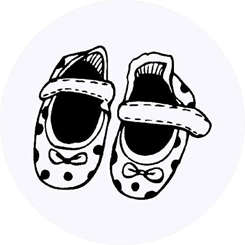 Azeeda 24 x 40mm Runden 'Baby Schuhe' Aufklebern / Stickers (SK00003660)