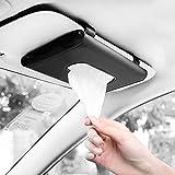 Fredysu Car Visor Tissue Holder, Sun Visor Napkin Holder Backseat Tissue Case, Premium Car Tissue Box for car, Vehicle (Black)