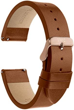 22mm Men s Leather Watch Band with Quick Release Pin Genuine Leather Watch Band Strap Matte product image