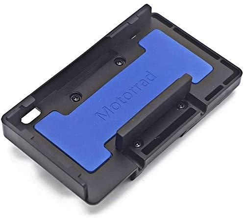 Soporte de navegación del Cargador inalámbrico de la Motocicleta Carga rápida para BMW R1200GS R1250GS S1000XR F800GS F750GS Soporte de GPS (Azul)