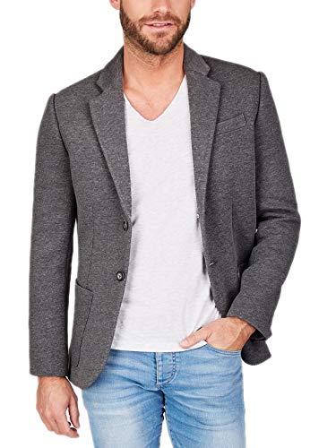 Centered Sakko Herren modern und sportlich - als Casual Jacket oder Blazer (Grau), Grau, L