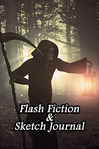 Flash Fiction & Sketch Journal: Write & Create Story Workbook with Flash Fiction and Sketch Page Book For Creative Writing and Drawing for Writers | Horror Cutter Devil Cover