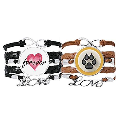 Bestchong Encantador perro garras patrón negro pulsera correa de mano cuerda de...
