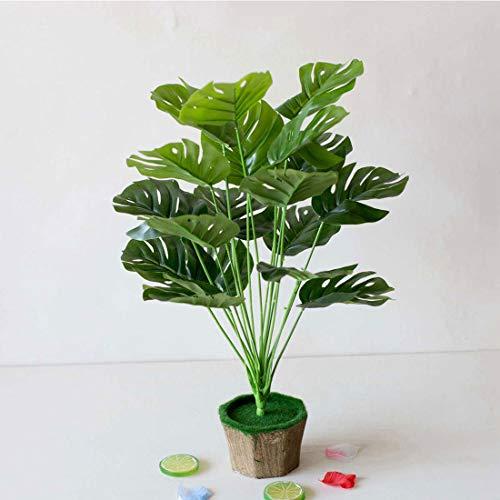 Monstera Artificial Hoja 18 Tenedor Hoja de Monstera Tropical Monstera Rama de árbol Artificial Planta Verde Planta de simulación Creativa