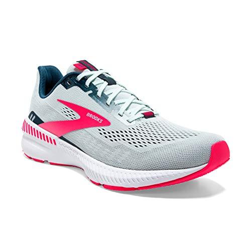 Brooks Damen Launch GTS 8 Laufschuh, Ice Flow Navy Pink, 42 EU