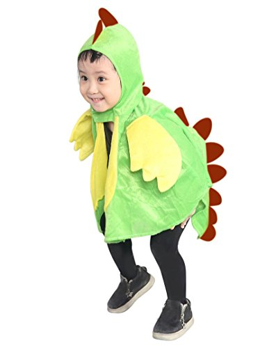 Drachen-Kostüm, AN78 Gr. 74-98, für Klein-Kinder, Babies, Drache Kind Drachen-Kostüme für Fasching Karneval, Kleinkinder-Karnevalskostüme, Kinder-Faschingskostüme, Geburtstags-Geschenk Weihnachts-Geschenk