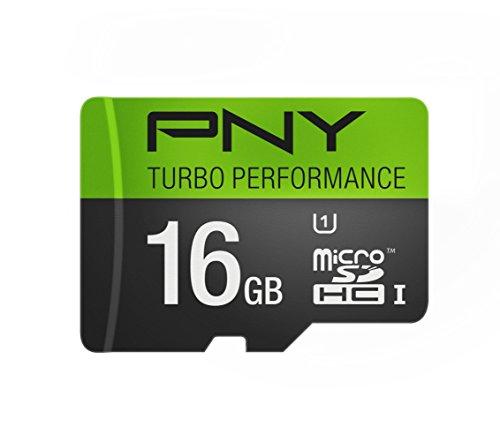 PNY U3 Turbo Performance 64GB High Speed MicroSDXC Class 10 UHS-I, up to 90MB/sec Flash Card (P-SDUX64U390G-GE)