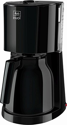 Melitta Enjoy Therm 1017-06, Filterkaffeemaschine mit Thermkanne, AromaSelector, Schwarz Filter-Kaffeemaschine, Kunststoff, 1.1 liters