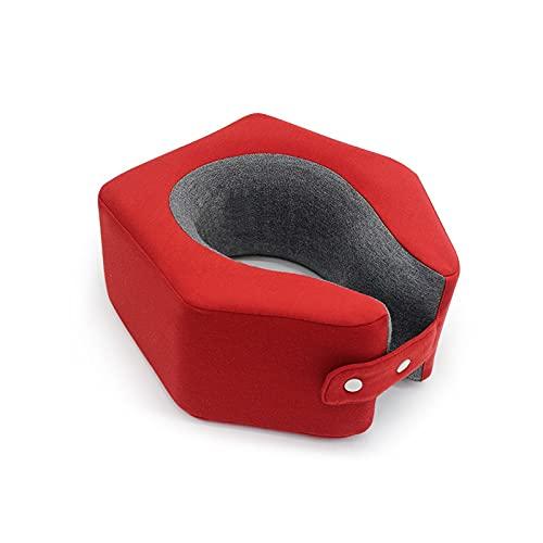Almohada para el Cuello del Coche Almohada de cuello en forma de U para almohadilla de cuello cervical de cuello de cuello de cuello cervical Cojín de almohadilla Memoria de espuma de espuma Comfort A
