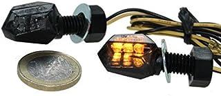 LED Micro Mini Blinker Tiny getönt (Smoke Grey) für Motorrad, Quad, Roller mit E Nummer, Aprilia, BMW, Honda, Kawasaki, Suzuki, Yamaha