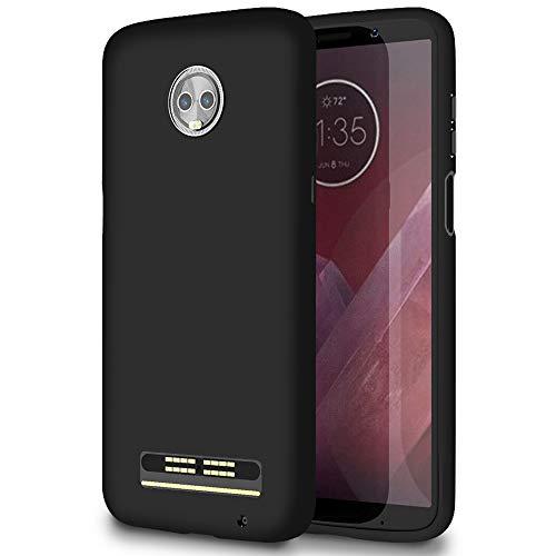 Slim Hülle für Motorola Moto Z3 Play | Unifarben Tasche in Schwarz