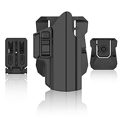efluky Universale IPSC Fondina Pistola Polimero Holster per Beretta APX/Glock 19 17/CZ...