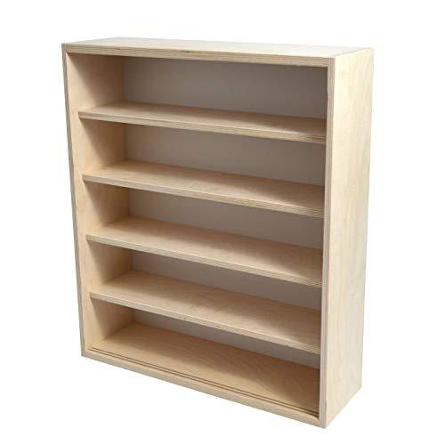 Vitrine Sammlervitrine Setzkasten V-17.50 - aus Deutscher Holzmanufaktur - Aufbewahrung Holz - 50 cm Breit 58 cm Hoch 5 Fächer mit 2 Scheiben