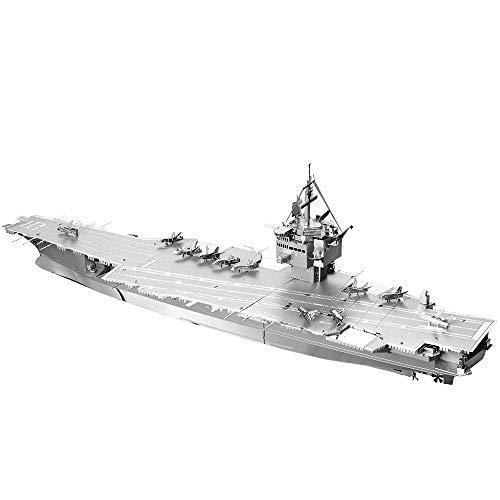 Piececool Rompecabezas 3D DIY de metal para USS Enterprise CVN-65, accesorios 130 piezas