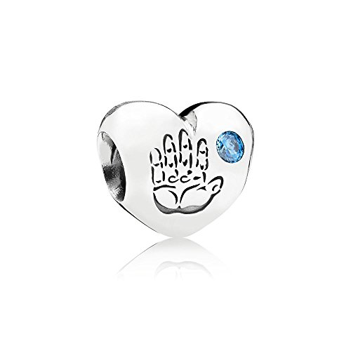 Pandora Moments Handabdruck Baby Junge Charm Sterling Silber 791281CZB