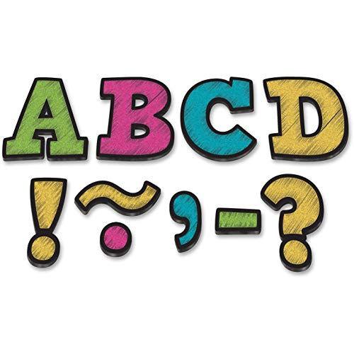 """Teacher Created Resources Bold Block 3"""" Magnetic Letters, Chalkboard Brights (77212.0)"""