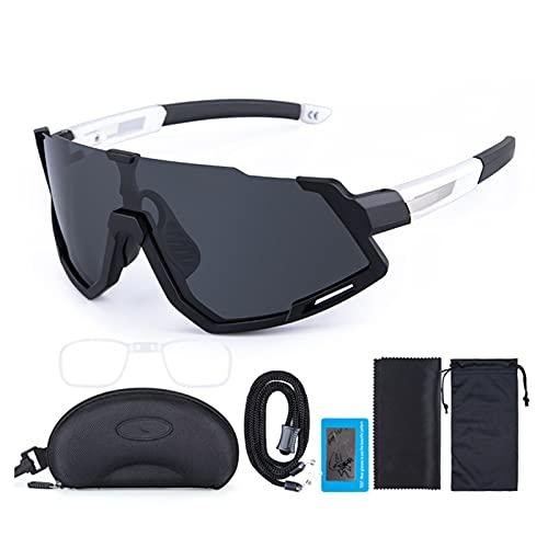 N / B Gafas de Ciclismo, Gafas de Sol Deportivas polarizadas, Gafas Deportivas para Correr al Aire Libre para Hombres y Mujeres para Ciclismo Gafas de Pesca para Correr