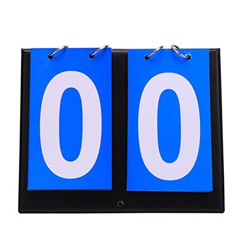 StyleBest Basketball Anzeigetafel-Tragbare Flip Sport Anzeigetafel Score Zähler für Tischtennis Basketball, Score Flipper 0-99 (Rot + Blau)