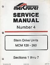 1986 MERCRUISER # 4 STERN DRIVE MCM 120-260 P/N 90-86137 SERVICE MANUAL (826)