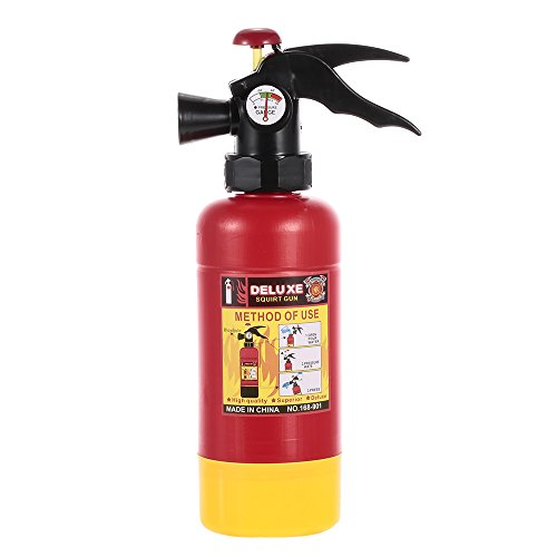Goolsky Extintor Portátil Squirter Juguete de Pulverización de Agua para Niños Regalo de Disfraces de Bombero de Halloween