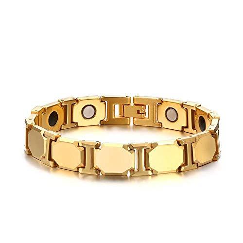 Armband,Herren Armband Herren Hand Schmuck 21CM Wolfram Stahl Armband Gold senden Sie Freunden und verwandten,Das Armband der Liebe