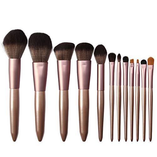 Kentop 12 Pièces Pinceaux de Maquillage Professionnel synthétique Cosmétique Pinceaux kit Pinceaux pour Le Visage,21x18x2cm