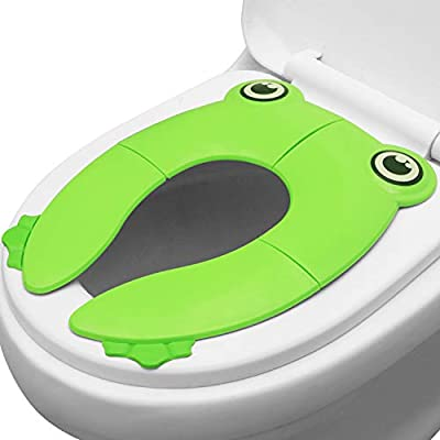 PandaEar Toilet Seat Cover | Folding Travel Toilet Seat for Children and Potty Training | Portable Silicone Toilet Seat for Toddlers, Boys & Girls with Non-Slip Silicone Pads | Recyclable Toilet Seat