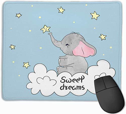 Kleines Elefanten-Mauspad für das rechteckige rutschfeste Gaming-Mousepad des Laptops mit genähten Kanten Halloween-Mauspad-Bürogeschenk