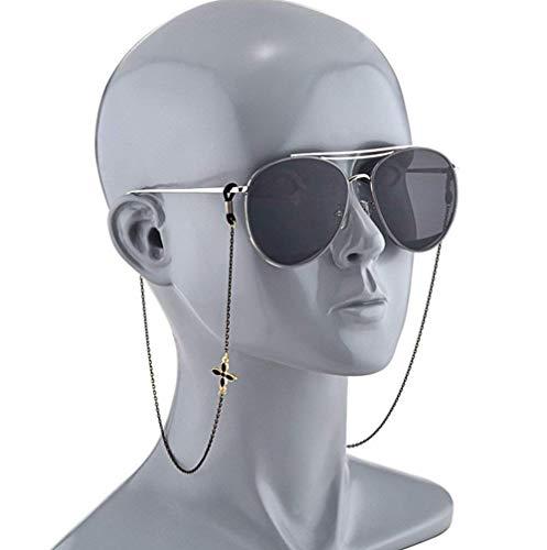 Demarkt Brillenkette Brillenband Brillenkordel Brillenhalter Sonnenbrille Kette Hals Lanyard Schwarz