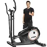 Profun Crosstrainer Für Zuhause, Ellipsentrainer mit APP-Steuerung, 8 Magnetwiderstandsstufen Bluetooth 12kg Schwungrad 170kg Max Kapazität Gewicht (Black)