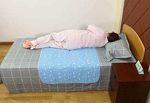 Wasserdichte Wiederverwendbare Inkontinenz-Bett-Auflagen Waschbare Inkontinenz Underpads 8 Schalen-Saugfähigkeit, Rutschfeste Matratzenschoner Für Erwachsene, Kinder Und Haustiere,80×90Cm