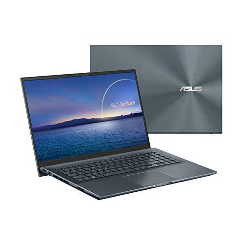 ASUS ZenBook UX535LH-BN128 - Ordenador portátil 15.6' Full HD (Intel Core i7-10870H, 16GB RAM, 512GB SSD, 1000GB HDD, NVIDIA GTX1650 4GB , Endless OS) Gris Pino - Teclado QWERTY español