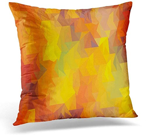 Brown Cloth Black Red Yellow and White Traditional African Mudcloth Colorful Geo Mud Decorative Home Decor Square Indoor/Outdoor Pillowcase Size: Inch-53-(16×16)