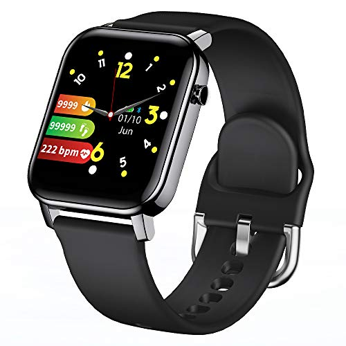 KINGXBAR Waterproof Smart Watch, Bluetooth Sports Smartwatch Fitness Tracker Activity Tracker with GPS Tracking Heart Rate Monitor Blood Pressure Fitness Watch for iOS and Android