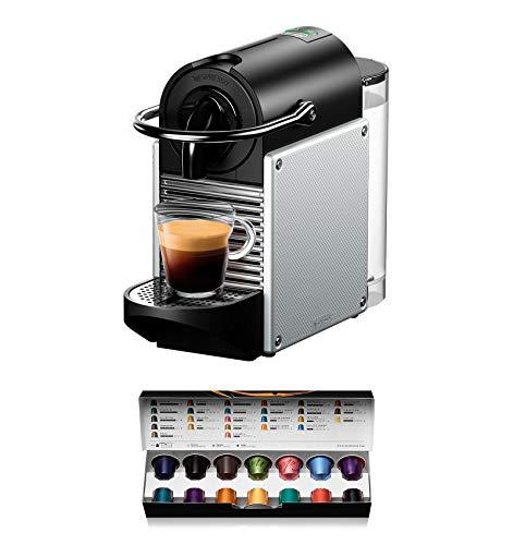 De'Longhi Nespresso EN 124 EN124.S Kapselmaschine Pixie 1260 W Seitenwände Aluminium aus recycelten Kapseln, silber