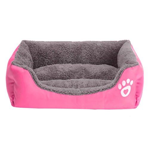 Cuccetta per animali domestici e cuccioli pieghevole e lavabile, carina, morbida, calda, per far dormire il gatto o il cane, letto, casetta, cuscino, cesta, di Yihya
