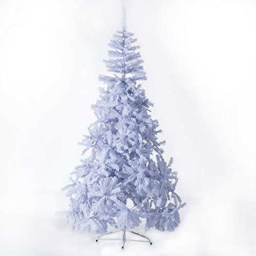homcom Albero di Natale Artificiale con Supporto in Metallo Bianco Altezza 210cm Folto
