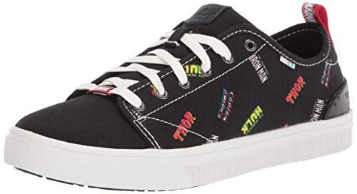 TOMS - Womens Trvl Lite Low Sneaker, 5 UK, Black Marvel Logos P