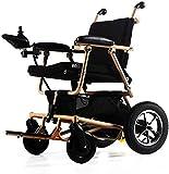 De peso ligero plegable sillas de ruedas eléctrica Silla de ruedas, silla de ruedas eléctrica con Flip-Back - plegable ultra portable for ancianos discapacitados en silla de ruedas, elevando reposapie