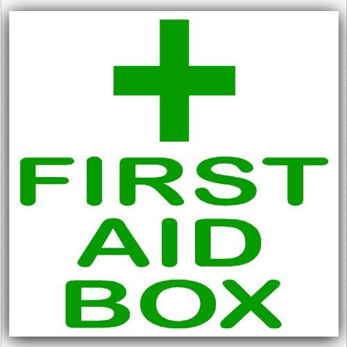 1 x EHBO-Groen op Wit, Externe Zelfklevende Stickers-Medische, Gezondheids- en Veiligheidsborden, Waarschuwing, Kennisgeving