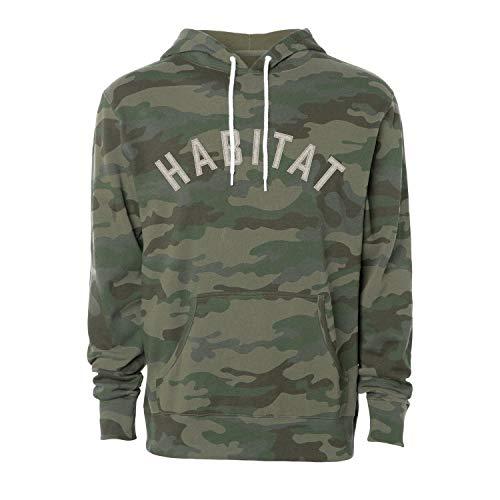 Habitat Skateboards Standard Arch Hoody, Camouflage, L