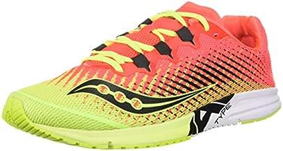 Saucony Women's Type A9 Road Running Shoe, Citron/Pink, 8