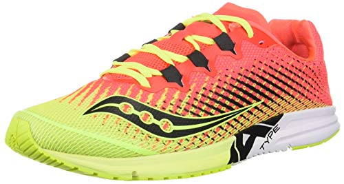 Saucony Women's Type A9 Road Running Shoe, Citron/Pink, 7.5