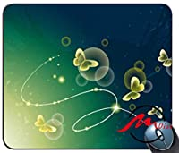 ZMviseグリーンバタフライパターンカスタマイズファッション漫画マウスパッドマットカスタム長方形ゲーミングマウスパッド