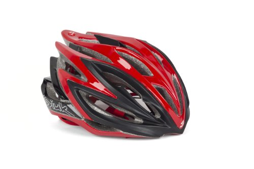 Spiuk Dharma - Casco de ciclismo, color rojo/negro, talla 53-61